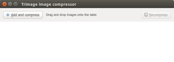 - Главное окно Trimage image compressor